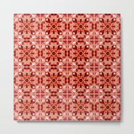 Abstract flower pattern 1c Metal Print