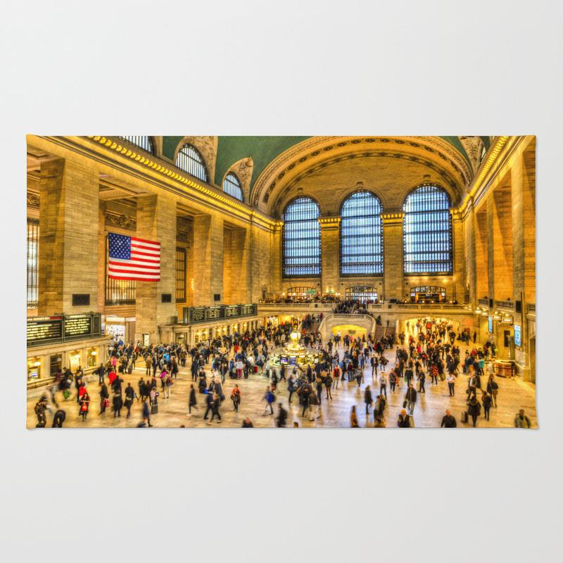 Grand Central Station New York Rug by Davidpyatt RUG8584008
