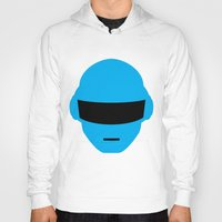 deadmau5 Hoodies featuring Daft Punk Thomas Bangalter Helmet by Alli Vanes