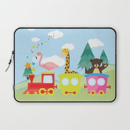 Animals Train , Nursery decor Laptop Sleeve
