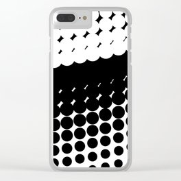 Half Tone Curve Clear iPhone Case