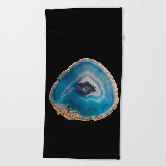 Blue Geode Beach Towel