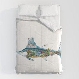 Colored Fisherman Marlin Comforters