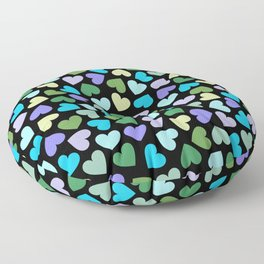 Hearts #3 Floor Pillow