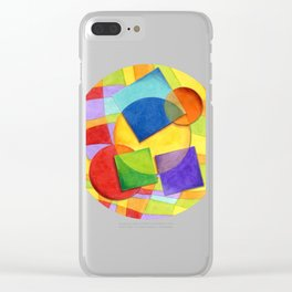 Candy Rainbow Circus Plaid Clear iPhone Case