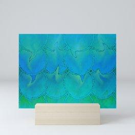 Mermaid Scales Blue Green Light 2 Mini Art Print