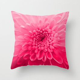 Chrysanthemum pink Throw Pillow