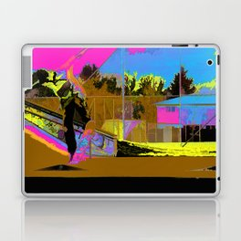 The Lift-Off - Skateboarder Laptop & iPad Skin