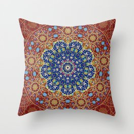 Mohgul blue-red star Throw Pillow