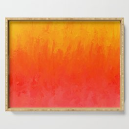 Coral, Guava Pink Abstract Gradient Serving Tray