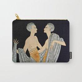 "Art Deco Illustration ""Twins"" by Erté Carry-All Pouch"