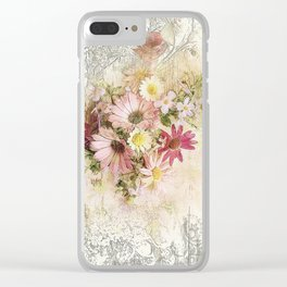 Sugar Sweet Shabby Chic Floral Clear iPhone Case
