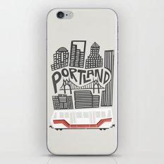 Portland Cityscape iPhone & iPod Skin