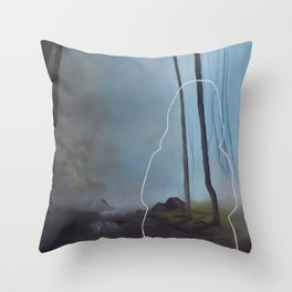 Nobody plays golf here Throw Pillow