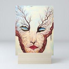 WOMAN TREE Mini Art Print