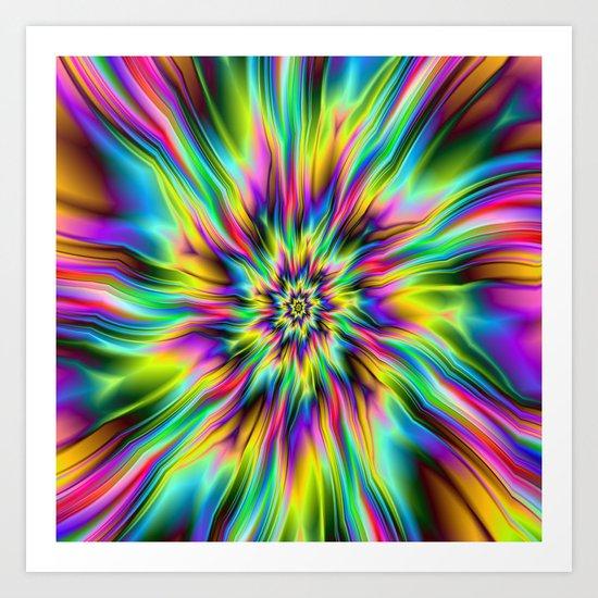 Psychedelic Supernova Art Print