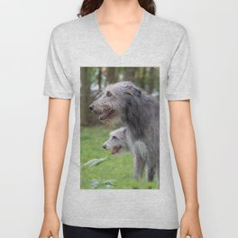 #Wolfhounds #big #meek #gray #giants Unisex V-Neck