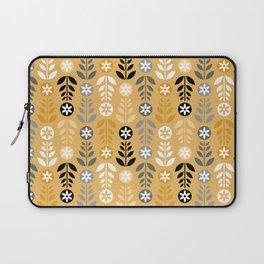 Scandinavian Flowers Gold Laptop Sleeve