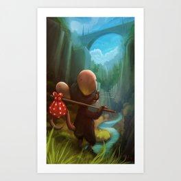 traveler mouse Art Print