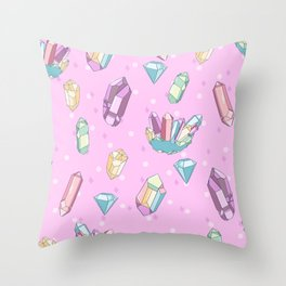 It's Crystal Clear Throw Pillow