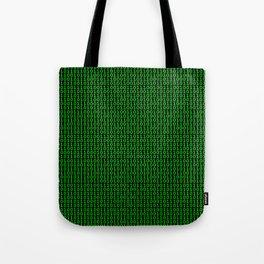 Binary Green Tote Bag