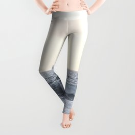 Sea Waves Modern and Vintage Beach Aesthetic Photography of Artsy Light Yellow Pink Sky Leggings