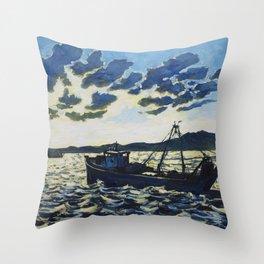 Fishing 1 Throw Pillow