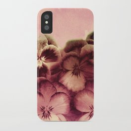 vintage tones pansies iPhone Case