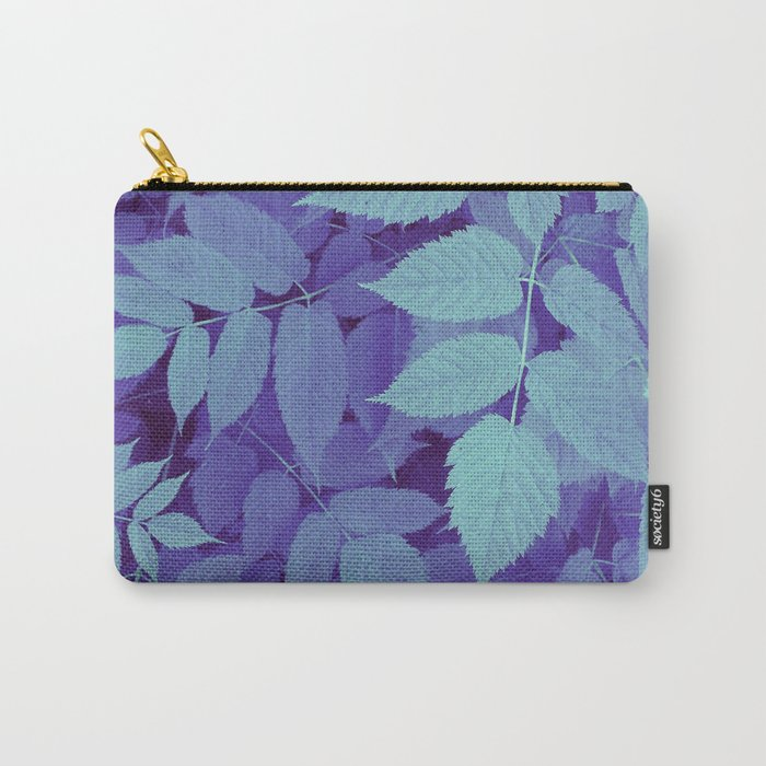 blue fall leaves Carry-All Pouch