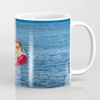 jaws Mugs featuring Jaws  by Christopher Chouinard