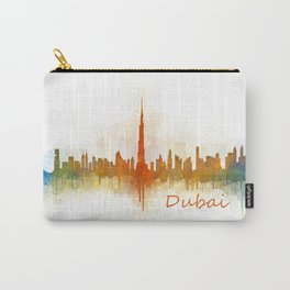 Dubai, emirates, City Cityscape Skyline watercolor art v3 Carry-All Pouch