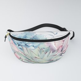Pretty Pastel Succulents Fanny Pack