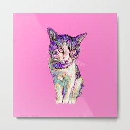 Twitch the Cat Metal Print