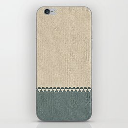 Texture Taupe and Grey Green Pattern iPhone Skin