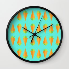 Carrot Veg Out Wall Clock