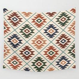 Aztec Symbol Pattern Col Mix Wall Tapestry
