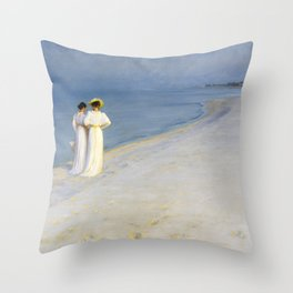 Summer Evening On The Souther Beach - Digital Remastered Edition Throw Pillow