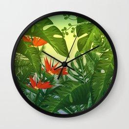 Leaf me Tropical Wall Clock