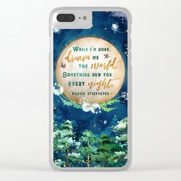 Dream me the world Clear iPhone Case