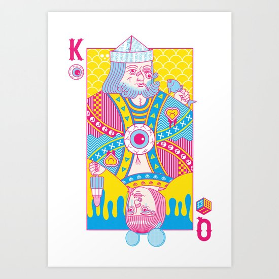 King Of Nothing, Queen Of Nowhere Art Print