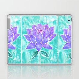 Sacred Lotus – Lavender Blossom on Mint Palette Laptop & iPad Skin