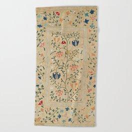 Uzbekistan Suzani Nim Embroidery Print Beach Towel