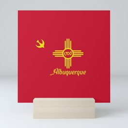 Flag of Albuquerque Mini Art Print