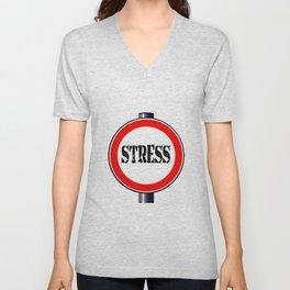 Stress Traffic Sign Unisex V-Neck