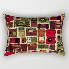 Music Boxes Pattern Rectangular Pillow