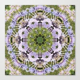 Lacy Lavender Wild Bergamot Kaleidoscope Canvas Print