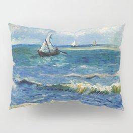 Seascape near Les Saintes-Maries-de-la-Mer by Vincent van Gogh Pillow Sham