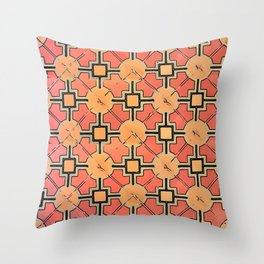 Floor Series: Peranakan Tiles 20 Throw Pillow