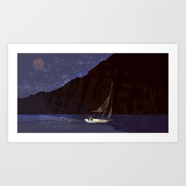 #11 Where No Man Has Gone Before - Sea of Stars Art Print