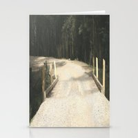 wooden Stationery Cards featuring Wooden Bridge by Chris' Landscape Images & Designs